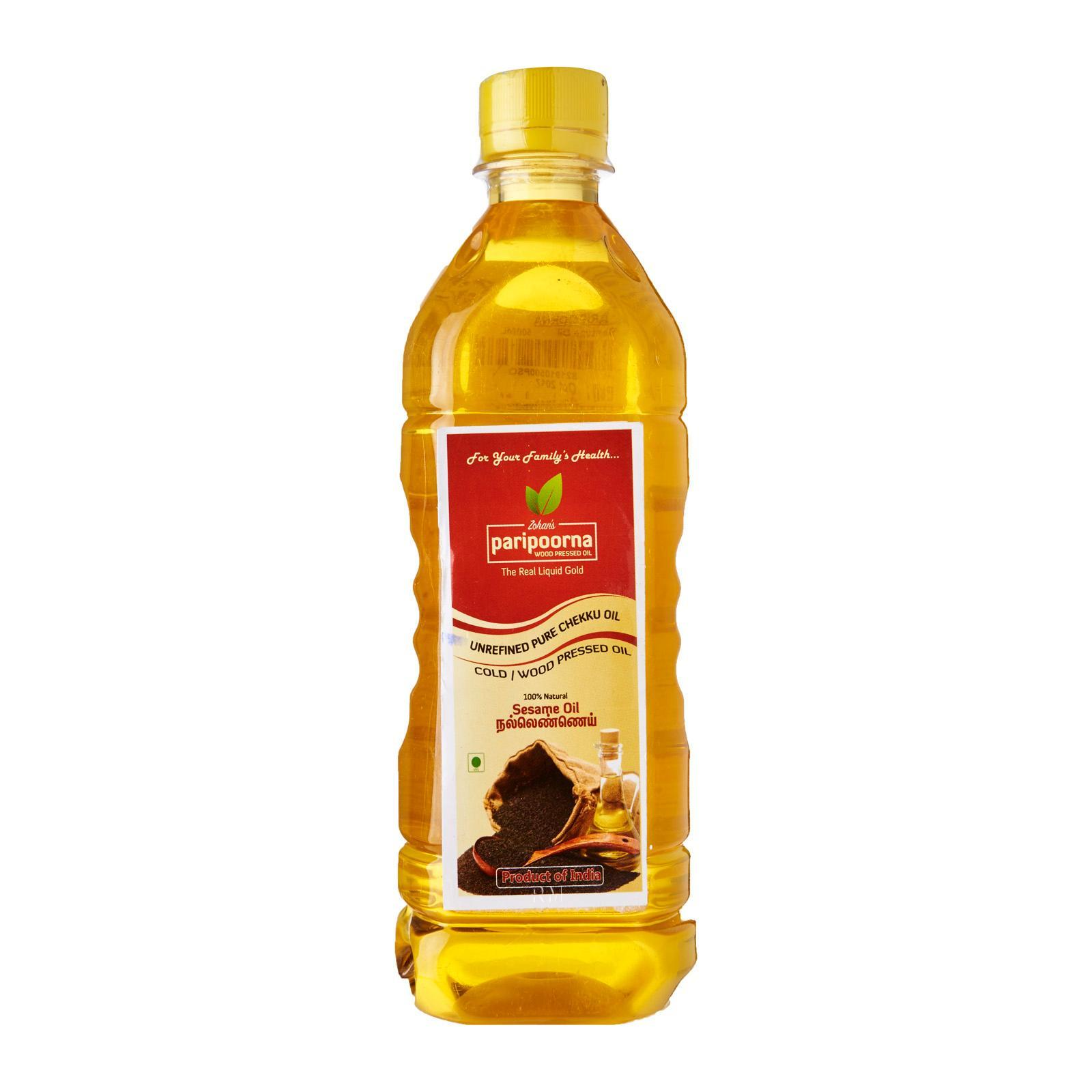 Paripoorna Wood /cold Pressed Sesame Oil By Redmart.
