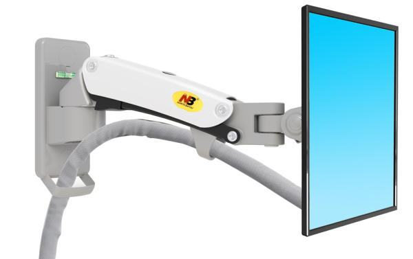 F120 Single Arm / Monitor Bracket / Gas-Strut Single Arm Wall / Flexi-Mount / Full Motion / Swivel Bracket / Monitor Mount