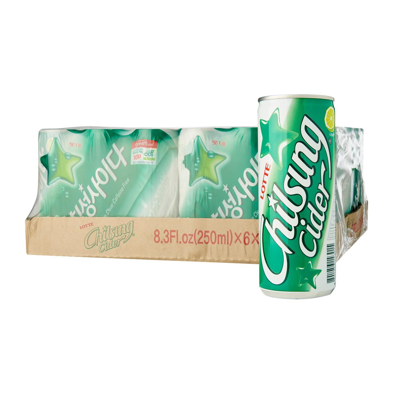 Lotte Chilsung Cider Soda Lemon-Lime Soda Water - Case