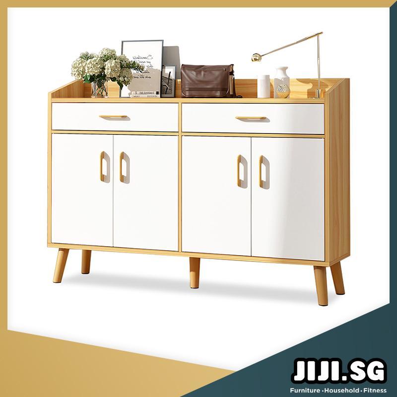 (JIJI SG) JUNKO Shoe Cabinet (4 Doors 2 Drawers) (FREE Installation) - Shoe Cabinets / Shoe Storage / Organizer / Box / Bookshelf / Furniture