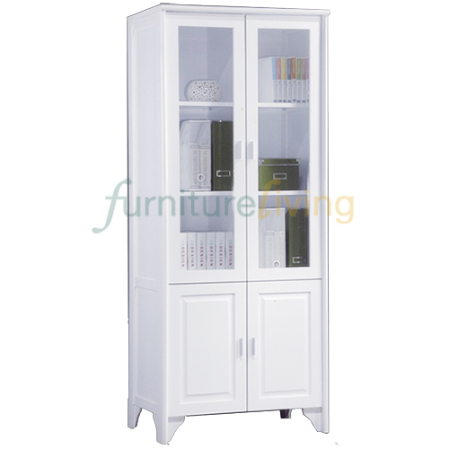Furniture Living Bookcase (4 Doors) White