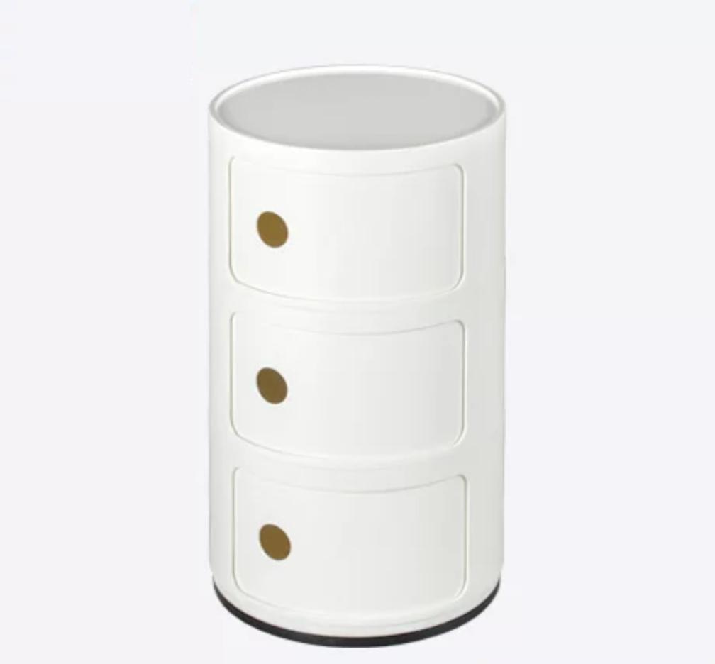 UMD Modern Bedside Storage Cabinet Bed Side Table Circular Storage Case