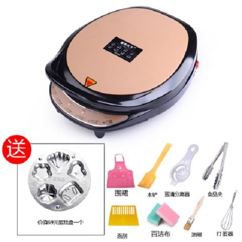 Double Happiness Large Size Deepened 32/3 Cm Double-Sided Baked Suspension Heating Household Electric Baking Pan Fried Thin Pancake Machine Pancakes File Pot By Taobao Collection.