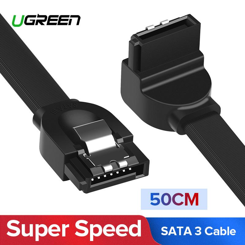 Ugreen 0.5 Meter Sata Cable 3.0 To Hard Disk Drive Ssd Hdd Sata 3 Straight Right-Angle Cable -Intl By Ugreen Flagship Store.