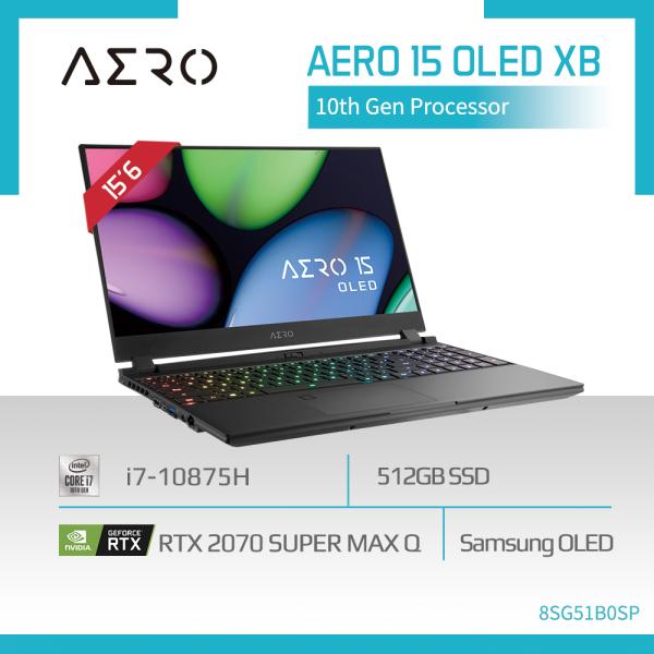GIGABYTE AERO 15 OLED XB (i7-10875H/16GB SAMSUNG DDR4 2933 (8GBx2)/GeForce RTX 2070 Super GDDR6 8GB Max-Q/512GB M.2 PCIE SSD/15.6inch Thin Bezel Samsung 4K UHD AMOLED/WINDOWS 10 PROFESSIONAL) [Ships 2-5 days]