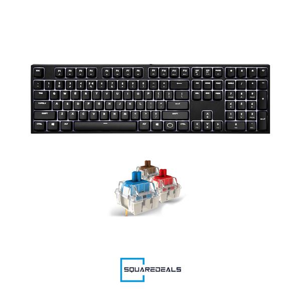 Cooler Master CK320 Mechanical Gaming Keyboard White Led Cherry MX All Models CoolerMaster Singapore