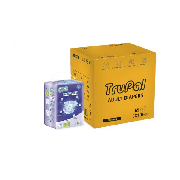 Buy Trupal Supreme Adult Diapers - M/L - Carton - 10 x 8 Singapore