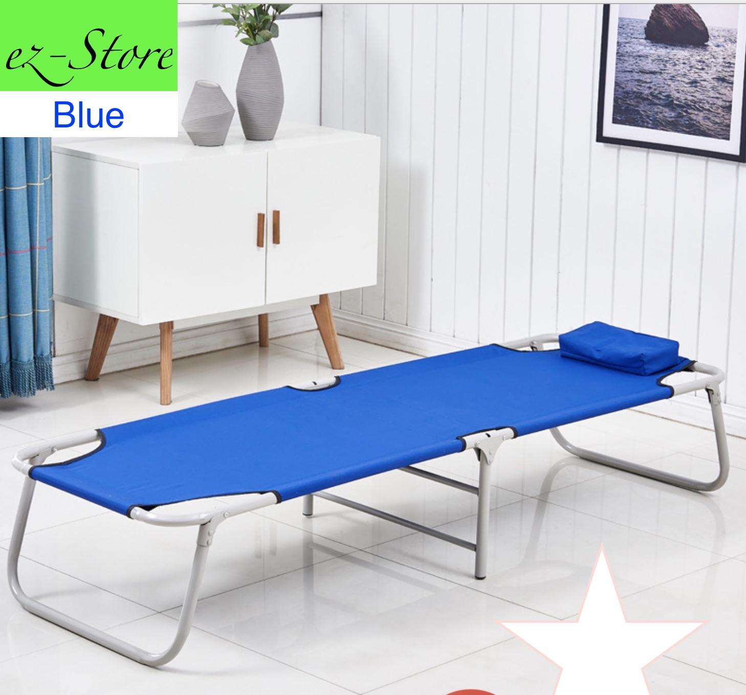 foldable bed/portable/single/ durable metal and canvas fabric /space saver/ hight quality/ light weight