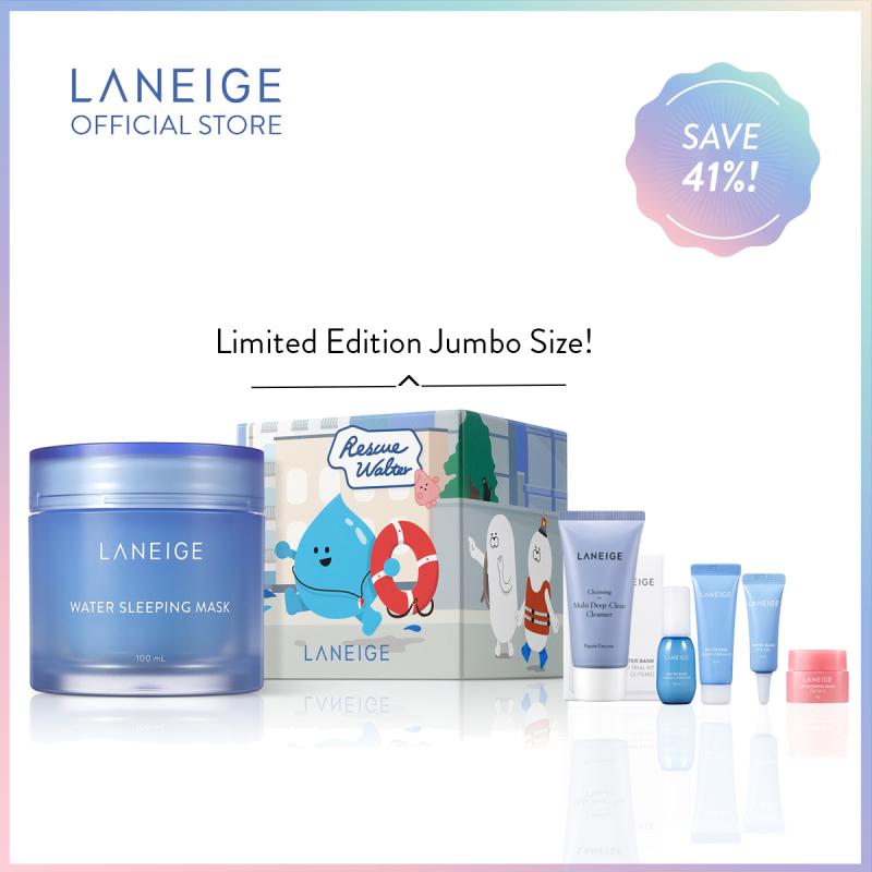 Buy [Combi to Oily Skin] LANEIGE Water Sleeping Mask Jumbo 100ml Limited Edition Set Singapore