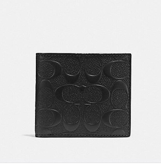 Coach Coin Wallet In Signature Leather F75363