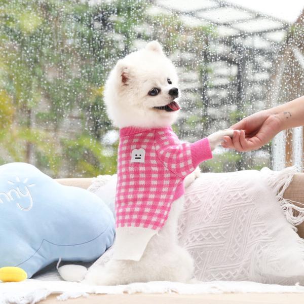1 Chiếc Áo Nỉ Thú Cưng Đáng Yêu, Trang Phục Hai Chân Cổ Tròn In Họa Tiết Kẻ Ca Rô Cho Chó Con