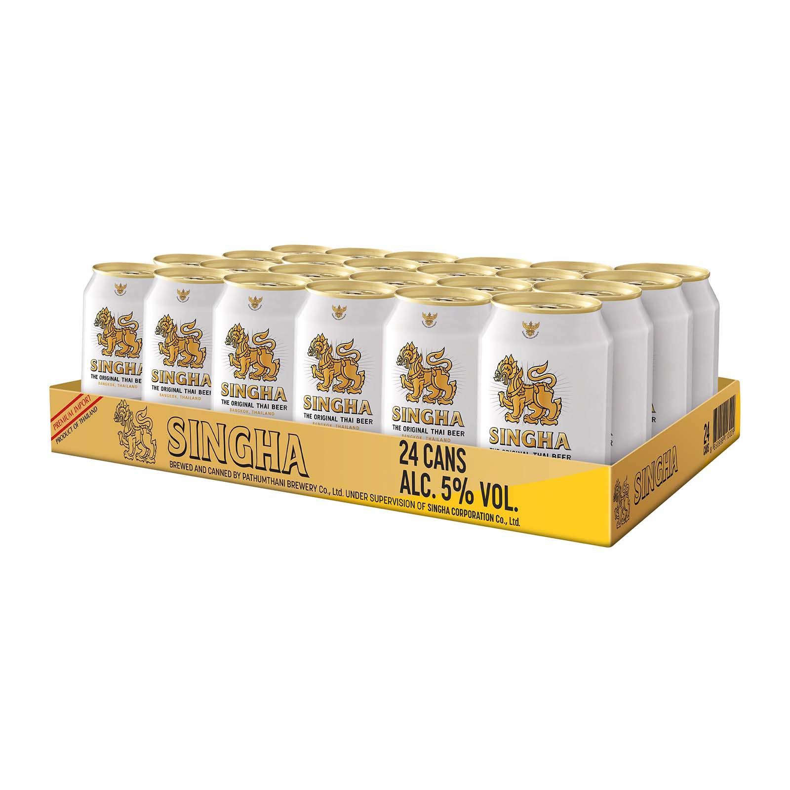 SINGHA Premium Lager Beer 320ml x 24 Cans