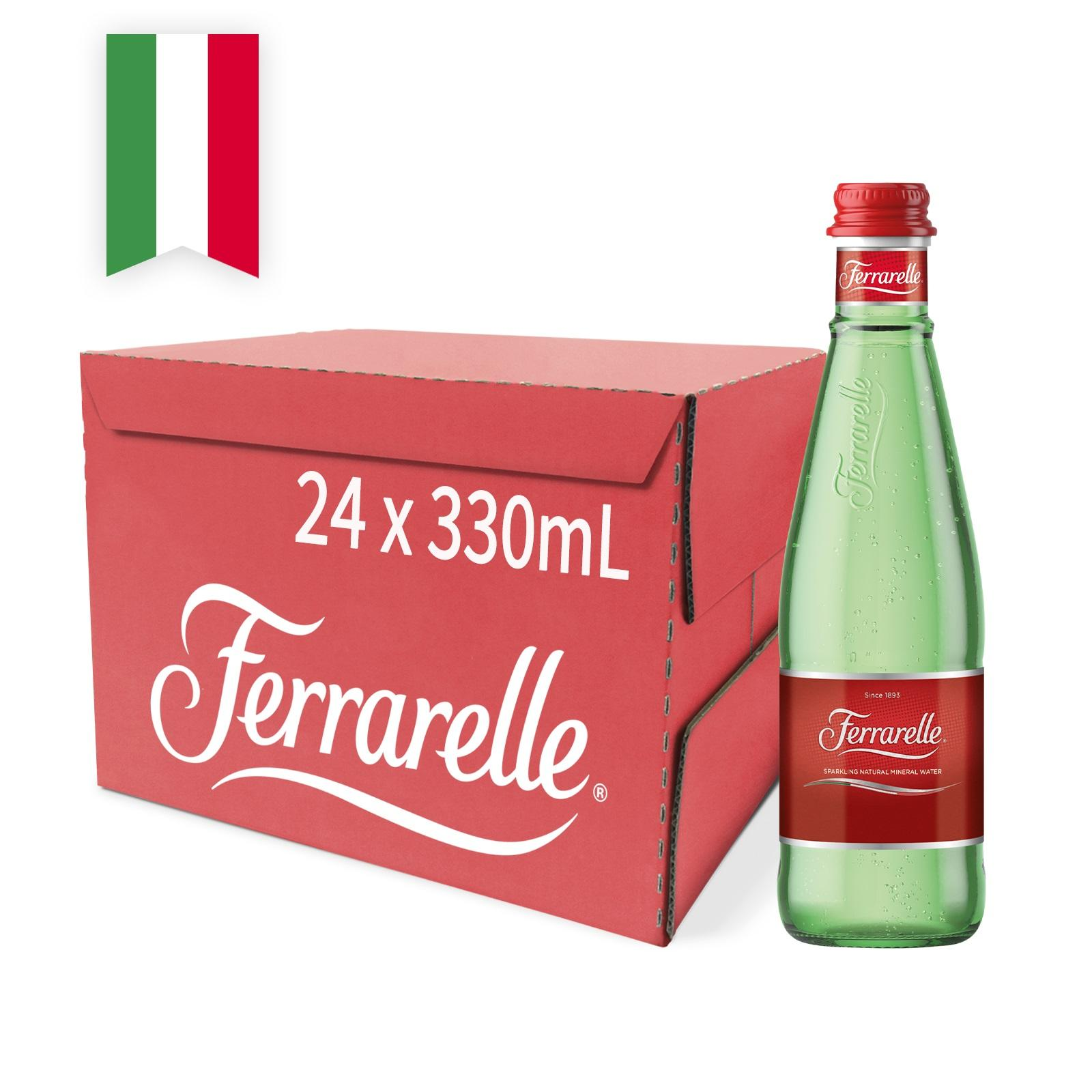 Ferrarelle Sparkling Water 24s Glass Bottles - Case