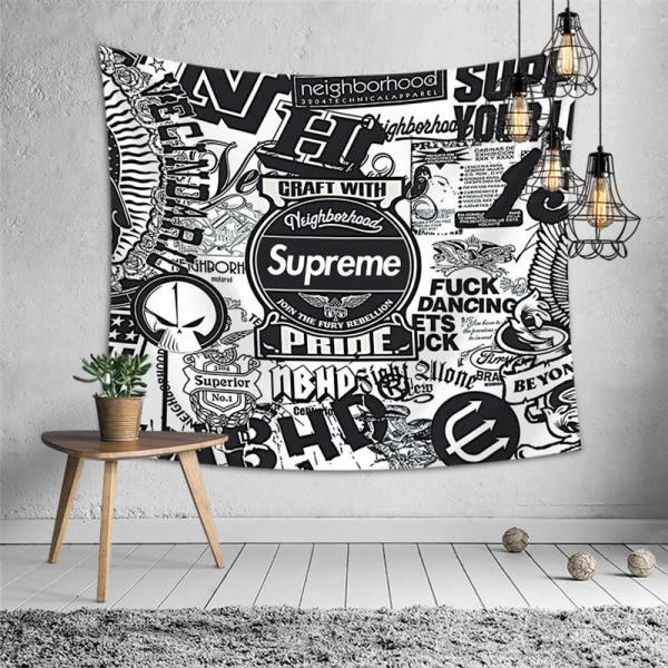 SUPREME Cool Popular Brand Wall Decoration Tapestry Wall Cloth Occlusion Background Cloth Tablecloth Bedroom Wall Cloth