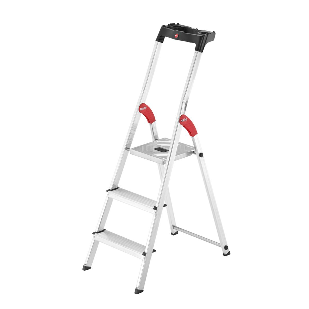 Hailo Household/Home/Steps Light Weight Stable/Steady/Sturdy 3/4/5/6/7/8 Steps Aluminium Safety Ladder/Ladders