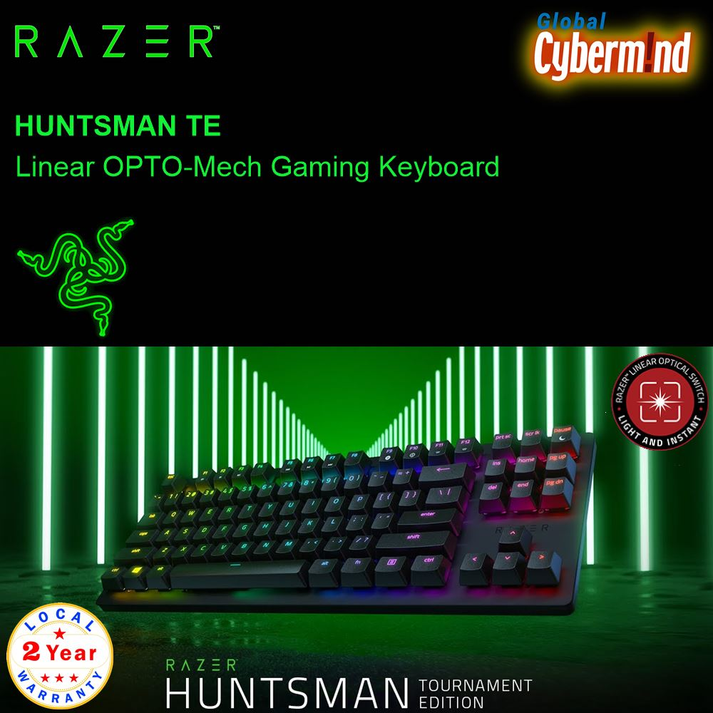 RAZER HUNTSMAN TOURNAMENT EDITION Linear Optical Gaming Keyboard ( Brought to you by Cybermind ) Singapore