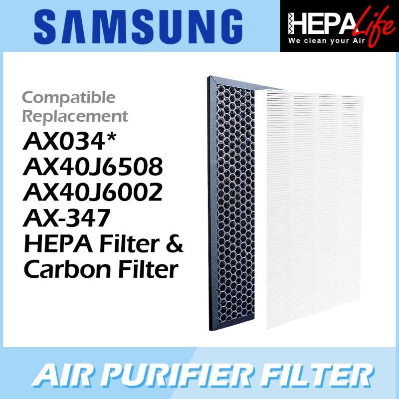 SAMSUNG AX034* AX40J6508 AX40J6002 AX-347 HEPA Filter & Carbon Filter - Hepalife Singapore