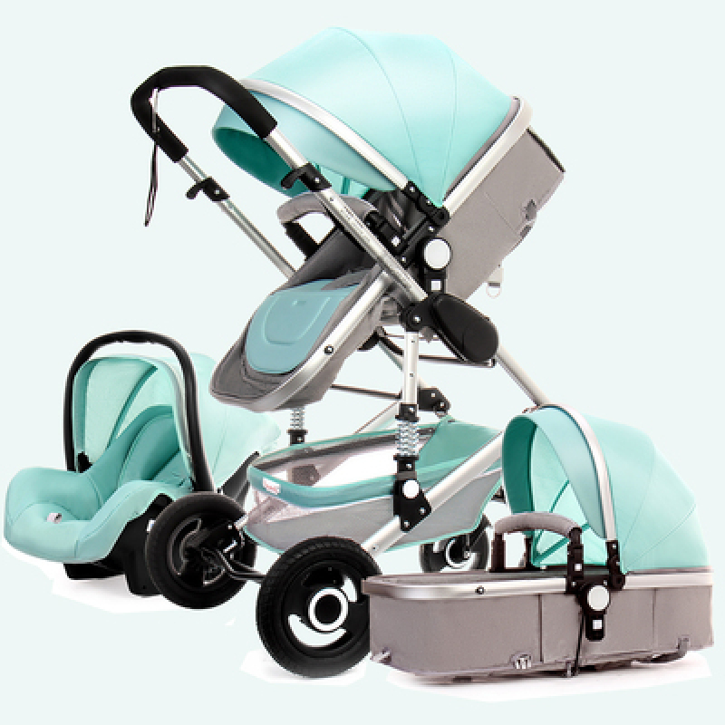 ★ High landscape baby stroller can sit reclining two-way four-wheel shock-absorbing folding small newborn baby BB winter and summer dual-use ★ Singapore
