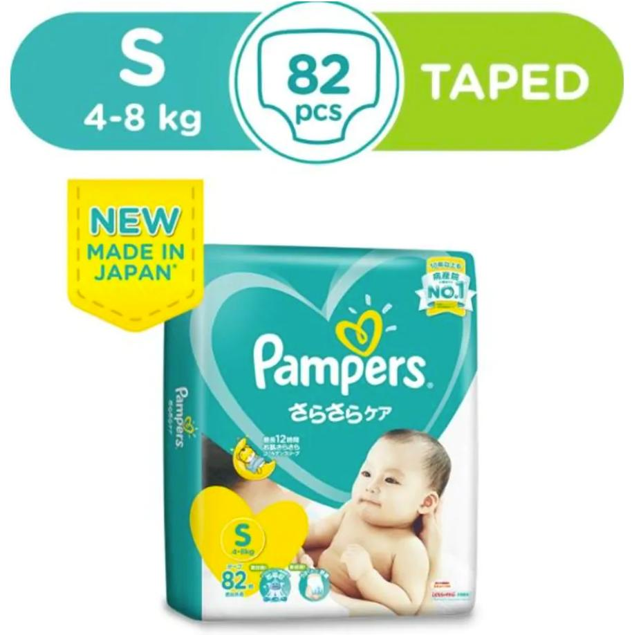 Pampers Baby Dry Tape Diapers Size S 82pcs.