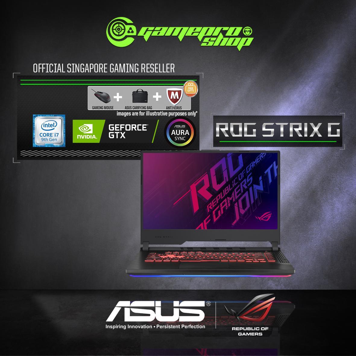 9th Gen ASUS ROG Strix G531GD GTX1050 (I7-9750H / 8GB / 512GB SSD / W10) 15.6 FHD GAMING LAPTOP *NDP PROMO*