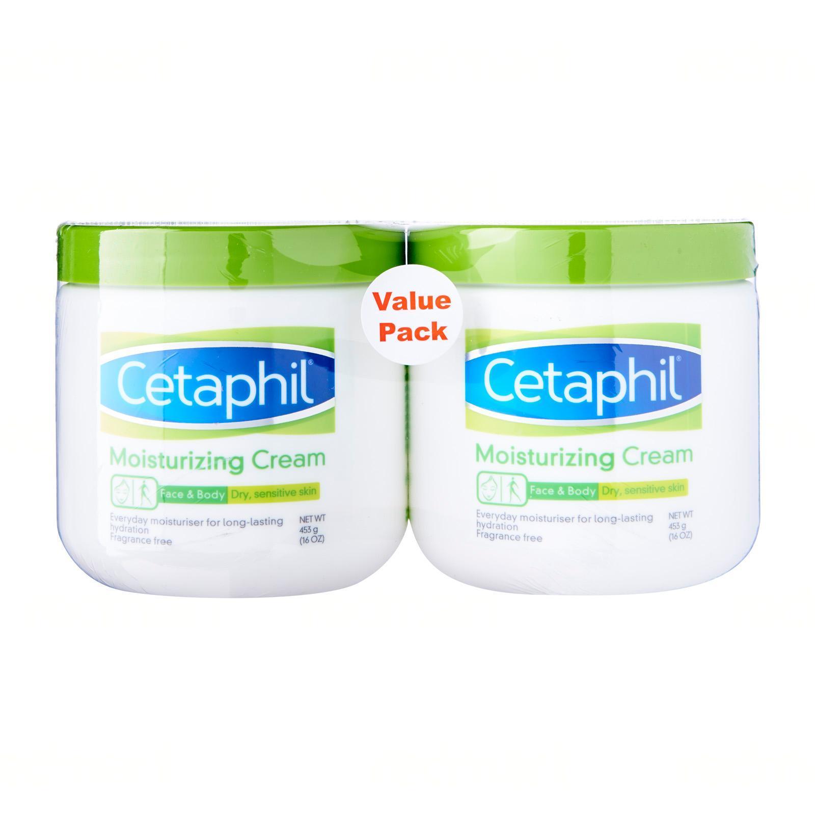 Cetaphil Moisturizing Cream (Dry Sensitive Skin) Twin Pack