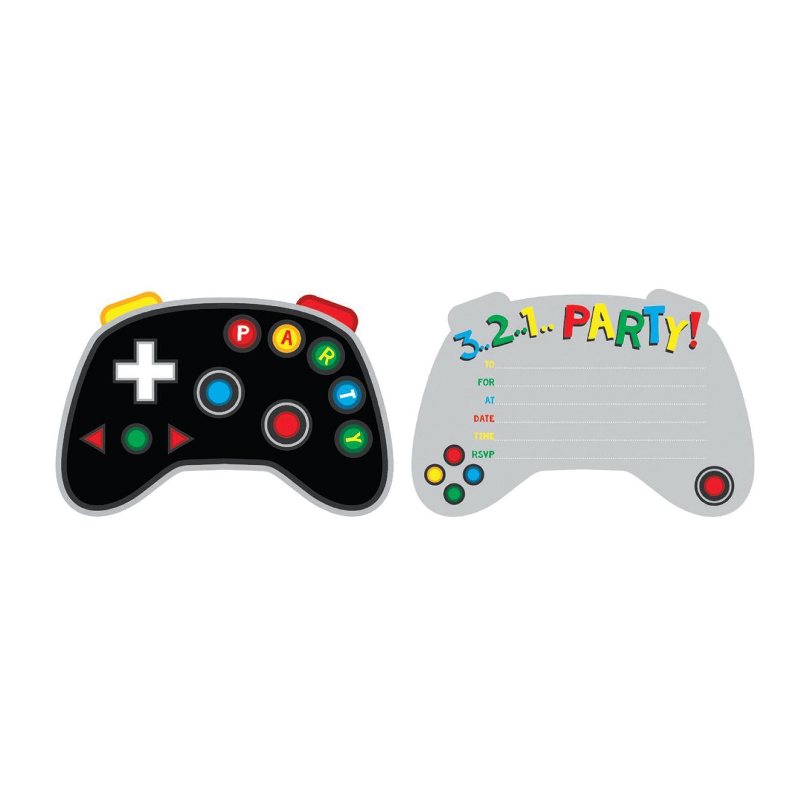 Artwrap Party Invitation - Gaming