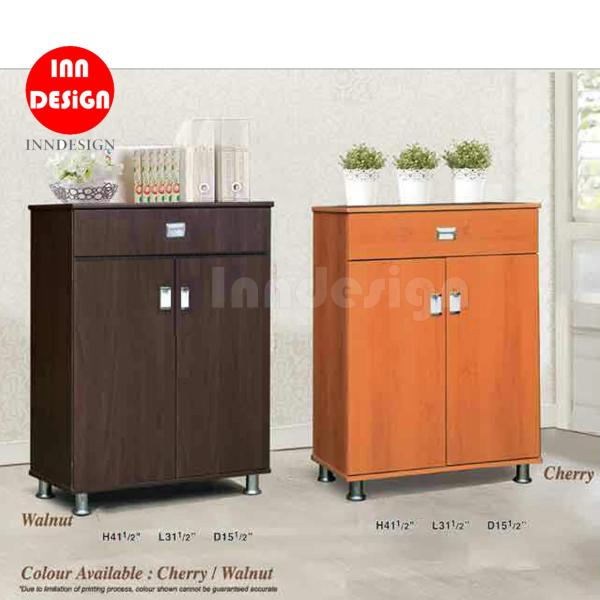 [FREE DELIVERY AND INSTALLATION] Gee 2 Doors Shoe Cabinet with Drawers