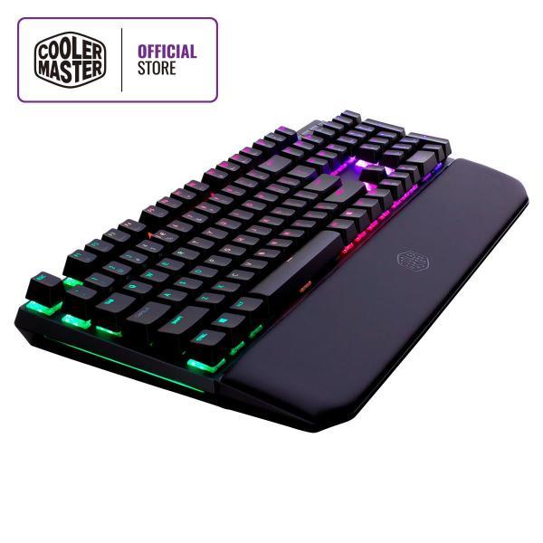 Cooler Master MK750 Mechanical Keyboard, Cherry MX Switches, RGB Illumination & RGB Lightbar, Magnetic Wrist Rest, Floating Keys Design, Brushed Aluminum Design (Full Layout / 108 Keys) Singapore