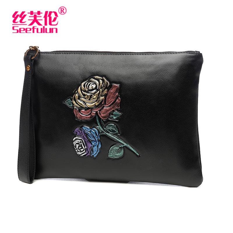 Handbag Female Clutch 2019 New Style Clutch Bag Korean Style Leather Cool Fashion Large Capacity Banquet Envelope