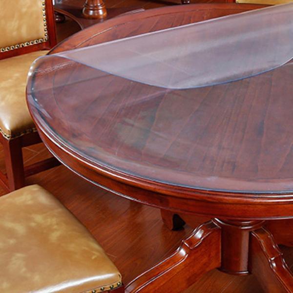 JIJI (Livia Pastoral Water & Heat Proof Transparent Table Mat - Round) - Matte / 80CM / 100CM / 120CM / 140CM / 150CM / 1.5mm  (SG)