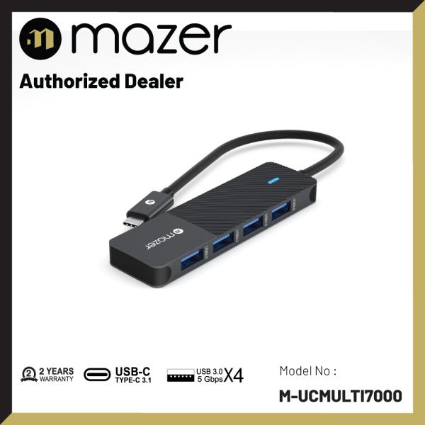 Mazer Infinite Multimedia Pro Hub 4-in-1 Multimedia Hub with USB3.0 5Gbps USB-C Multimedia Hub