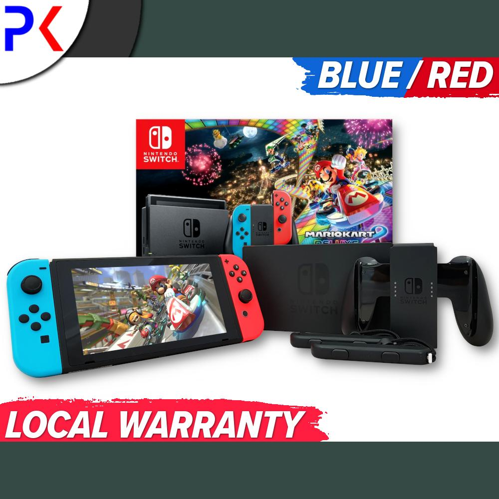 Nintendo Switch Console Mario Kart 8 Deluxe Bundle + 1 Year Local Warranty By Peppkouri.