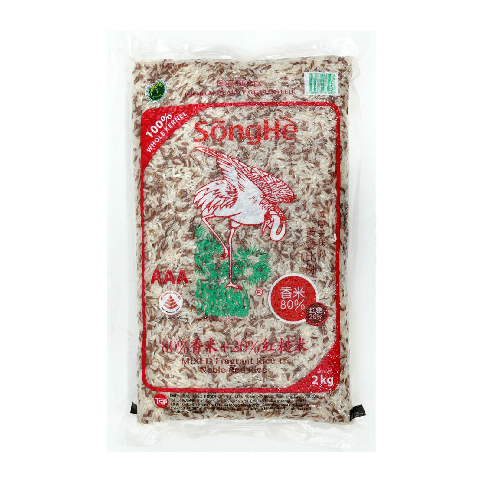 SongHe Mixed Fragrant Rice + Noble Red Rice 2Kg