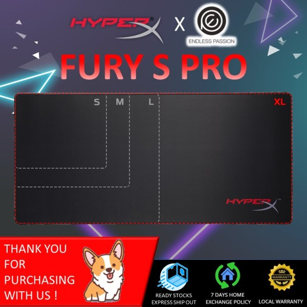 HyperX FURY S - Speed & Black Edition Pro Gaming Mouse Pad (S/M/L/XL)