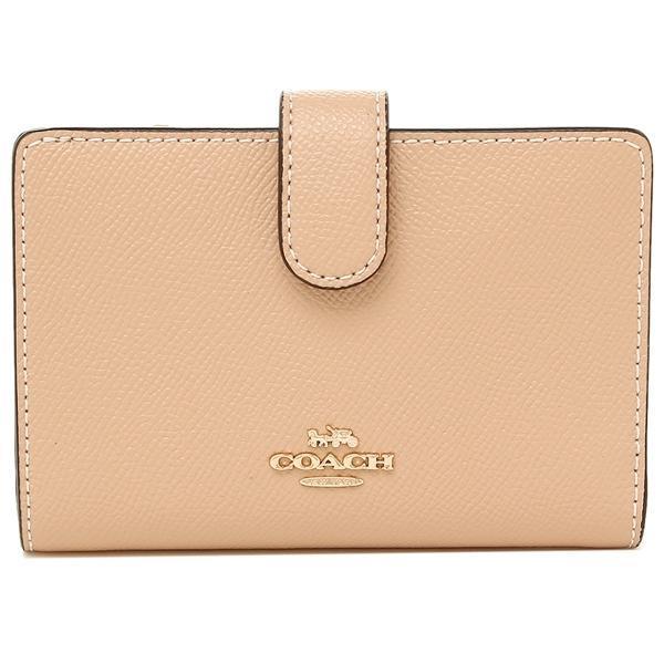 Coach F11484 Corner Zip Medium Women s Leather Wallet (Pink Beige   Black    Atlantic Blue 618275acf25a0