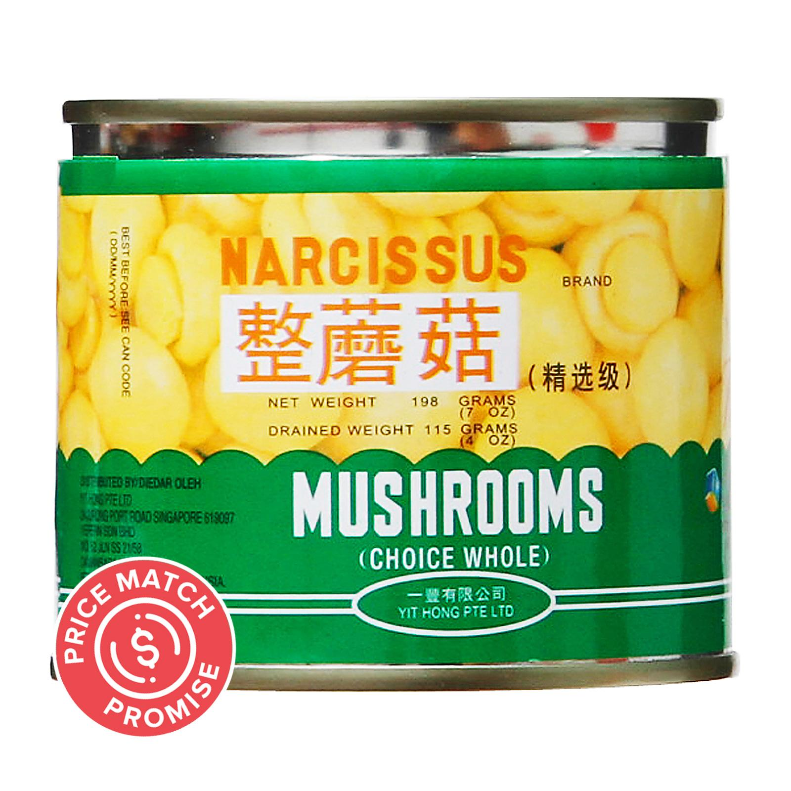 NARCISSUS Whole Mushrooms 198g