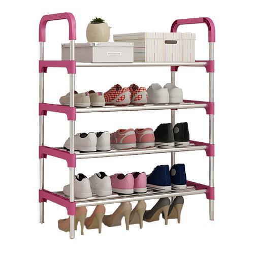 JIJI (TITAN Steel Shoe Rack) / Stainless Steel/ PP / 4 Tier / 5 Tier / 6 Tier / Easy Assemble / (SG)