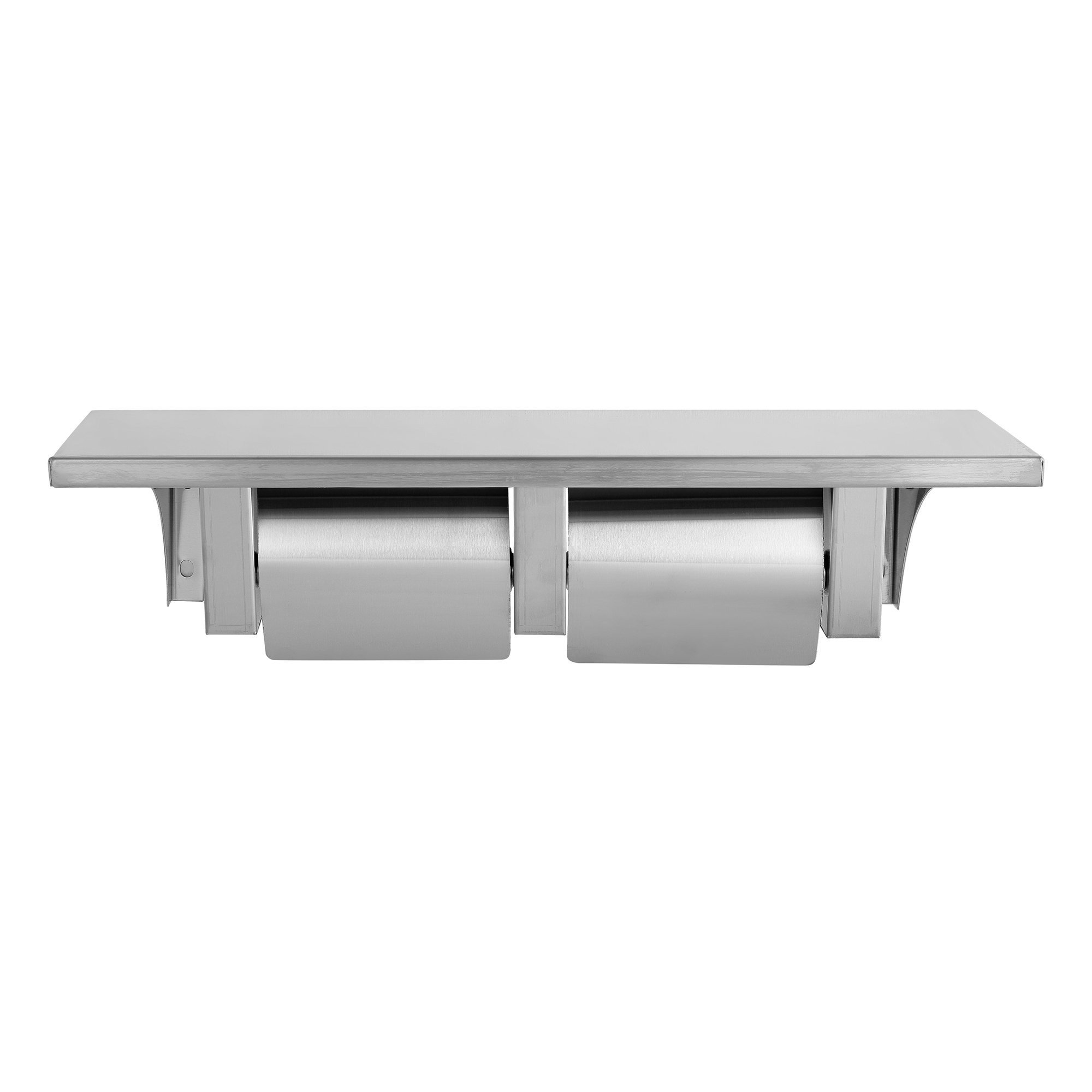 CA811 Stainless Steel Shelf and Double paper holder with cover(Satin finish)