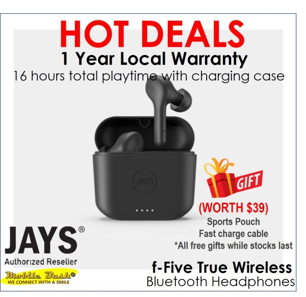 JAYS f-Five True Wireless Earphones Singapore