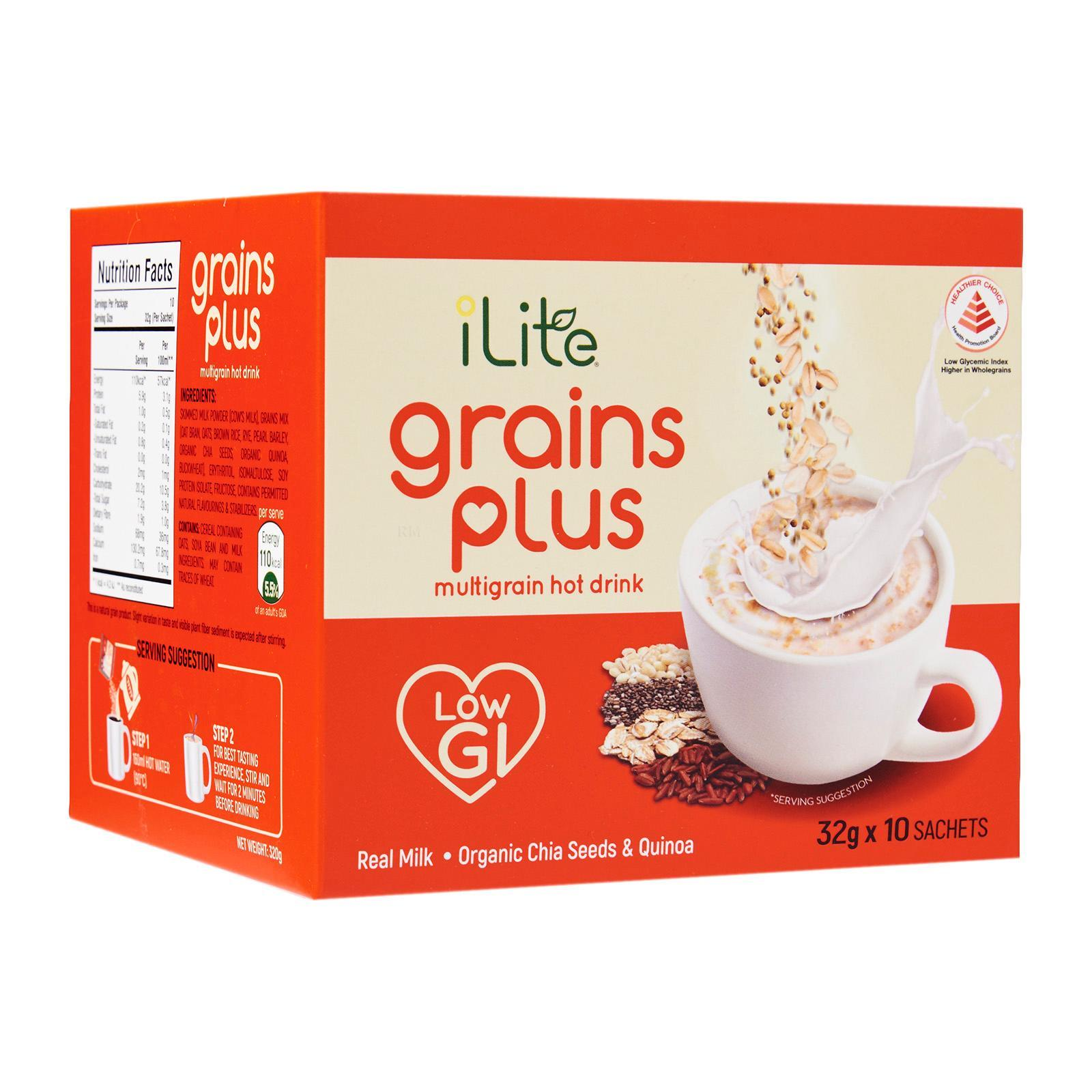 Ilite Grains Plus Multigrain Hot Drink (low Gi) By Redmart.