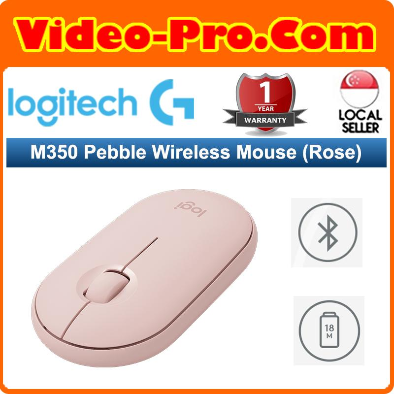 Logitech Pebble M350 Multiple Connections Silent Wireless Mouse (Bluetooth + USB Receiver)
