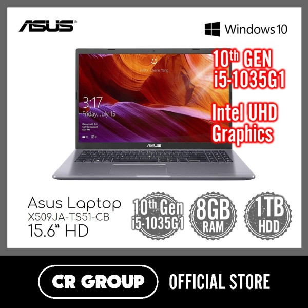 Asus Laptop X509JA-TS51-CB 15.6 Inch | 10th Gen i5-1035G1 | 8GB DDR4 RAM | 1TB HDD Storage | Intel UHD Graphics