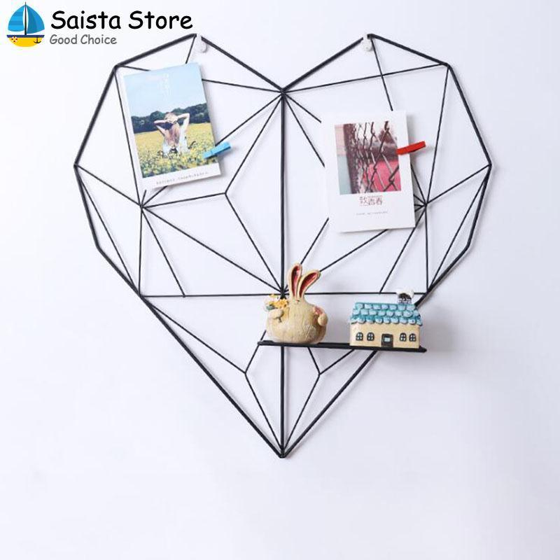 Picture Frame Heart Shape Vintage Iron Iron Wire Gift Decor