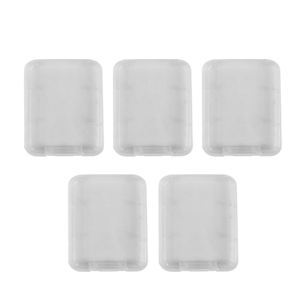 Giá 5 Series Memory Card Case Box Protective Case for SD SDHC MMC XD CF Card White transparent