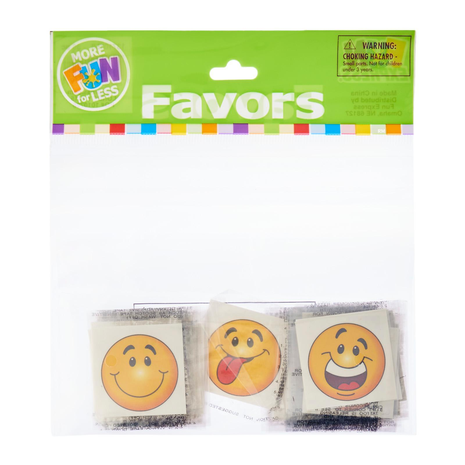 Fun Express Smiley Face Temporary Tattoos 36 PCS/Pack Party Favor