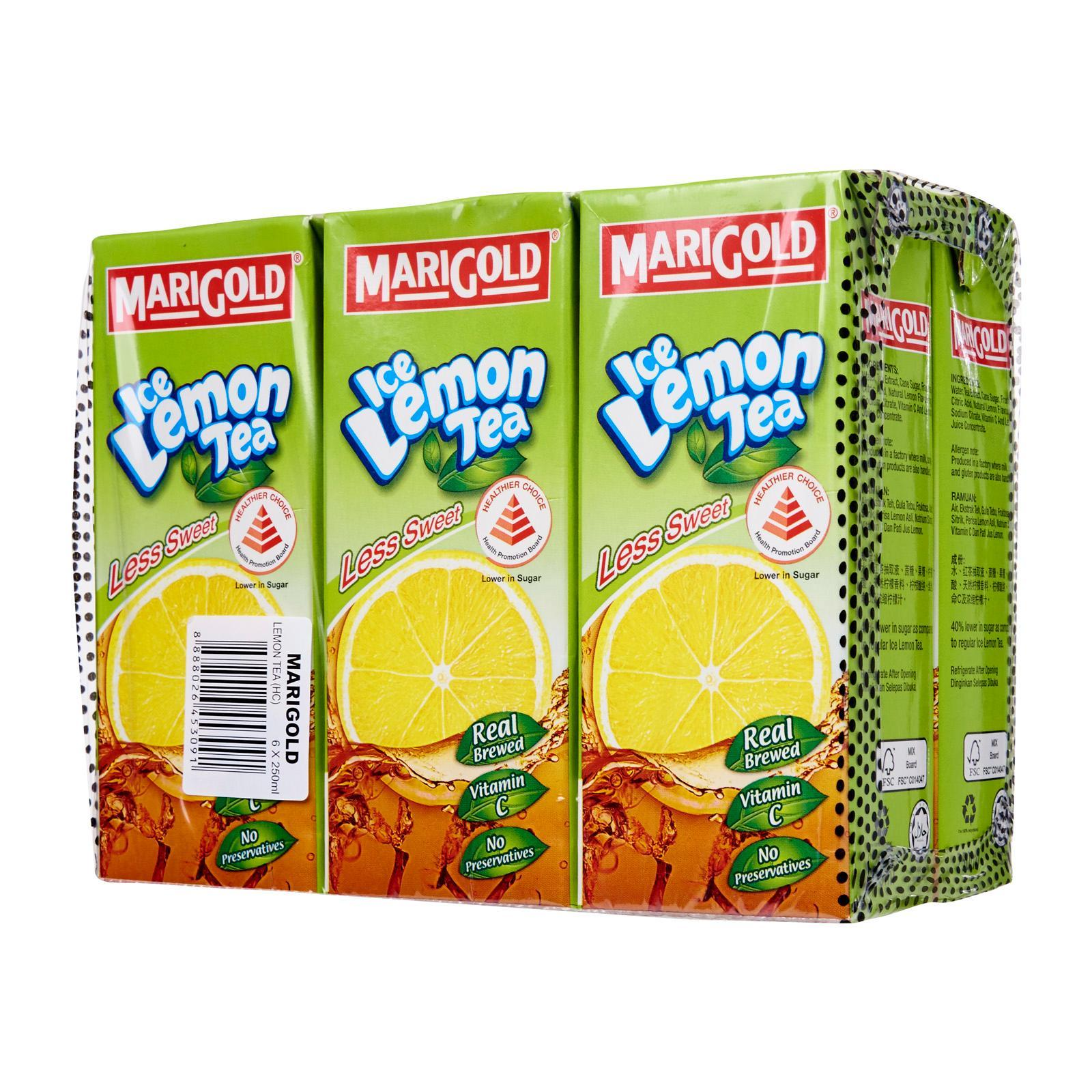 MARIGOLD Ice Lemon Tea Less Sugar 6x250ml