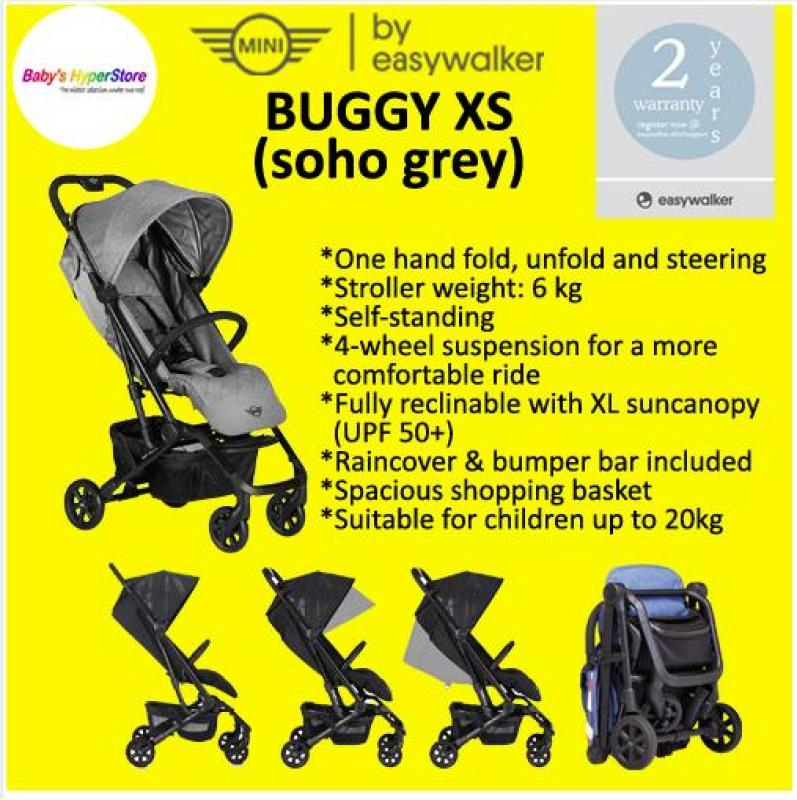 EASYWALKER MINI BUGGY XS★ Newborn to 20kg★ Cabin size6kg★ Raincover-bumper bar included★ Spacious basket Singapore