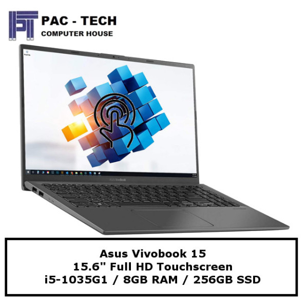 [Export Set] Asus Vivobook 15 Touchscreen | i5-1035G1 | 8GB RAM | 256GB Solid State Drive | 15.6 FHD Touchscreen | Windows 10 Home |