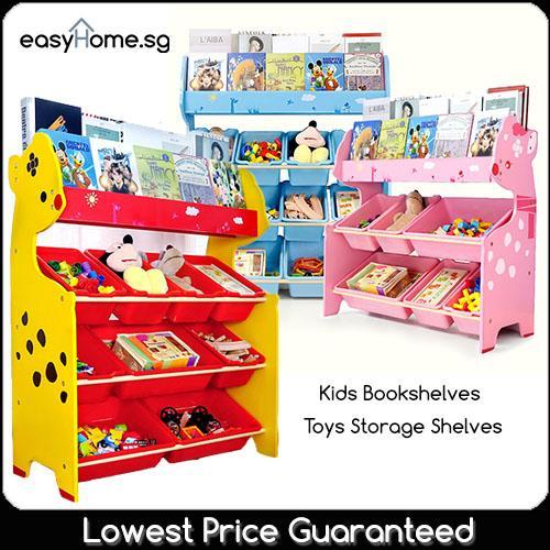 Easyhome.sg Kids Storage Shelves 3 Tier TNWX6607 / 4 Tier TNWX6614