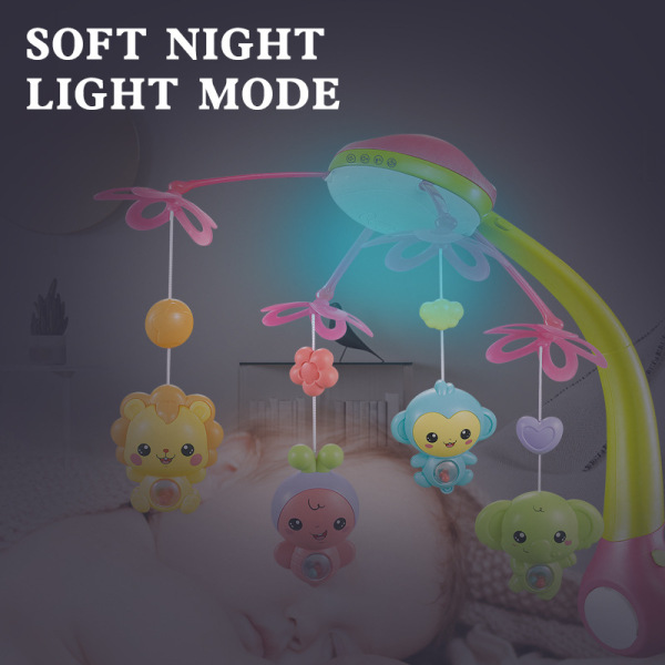 Cute Angel Store 2020Hot Selling Ready in Stock On Sale Baby Musical Crib Mobile Rotating Hanging Rattles Stroller Accessory Bed Bell for Baby Newborn Car Bed Crib Toy Without Singapore